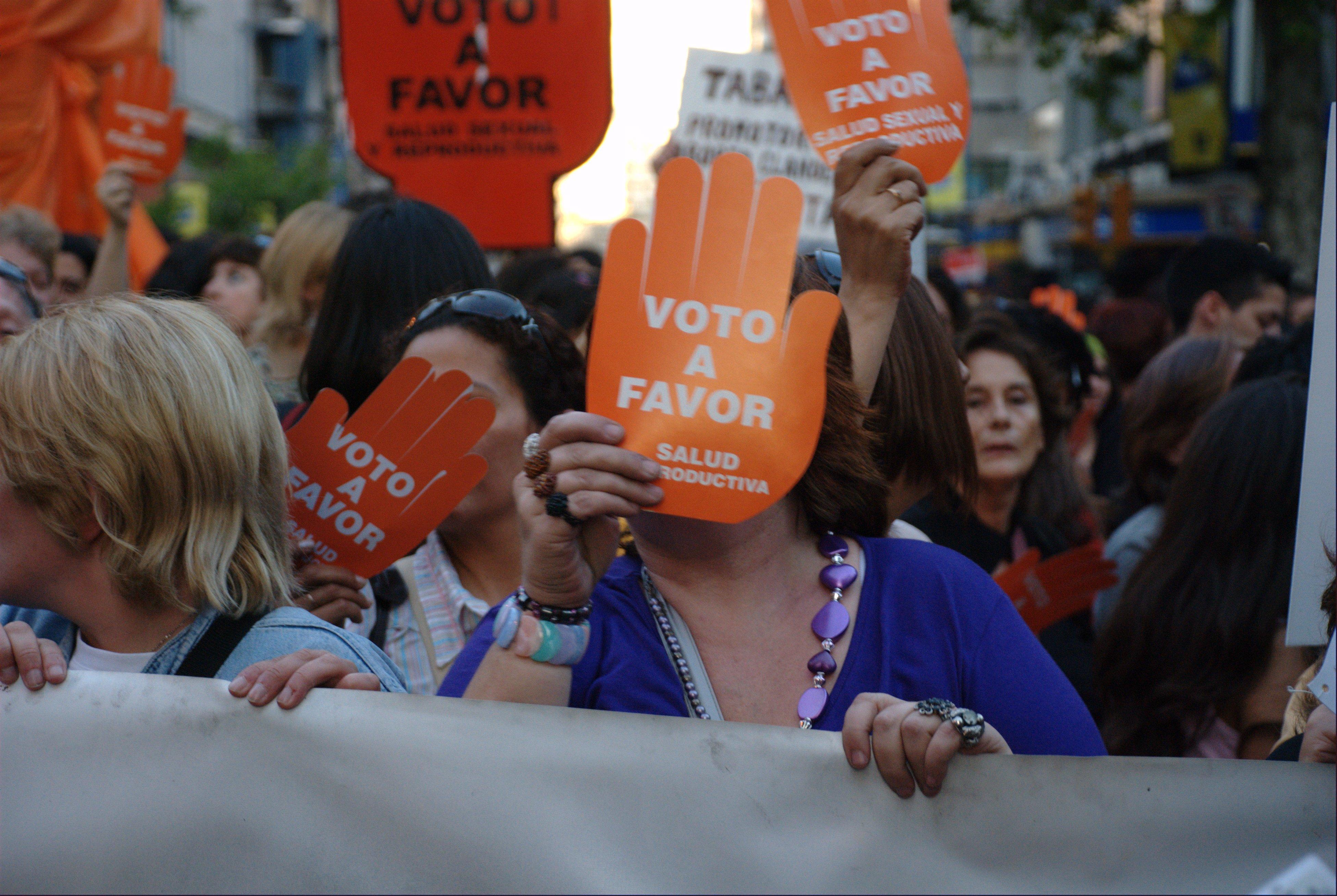 Fotografía de marcha por la despenalización del aborto