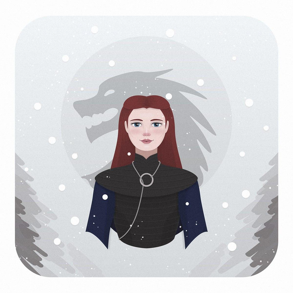 Ilustración de Sansa Stark
