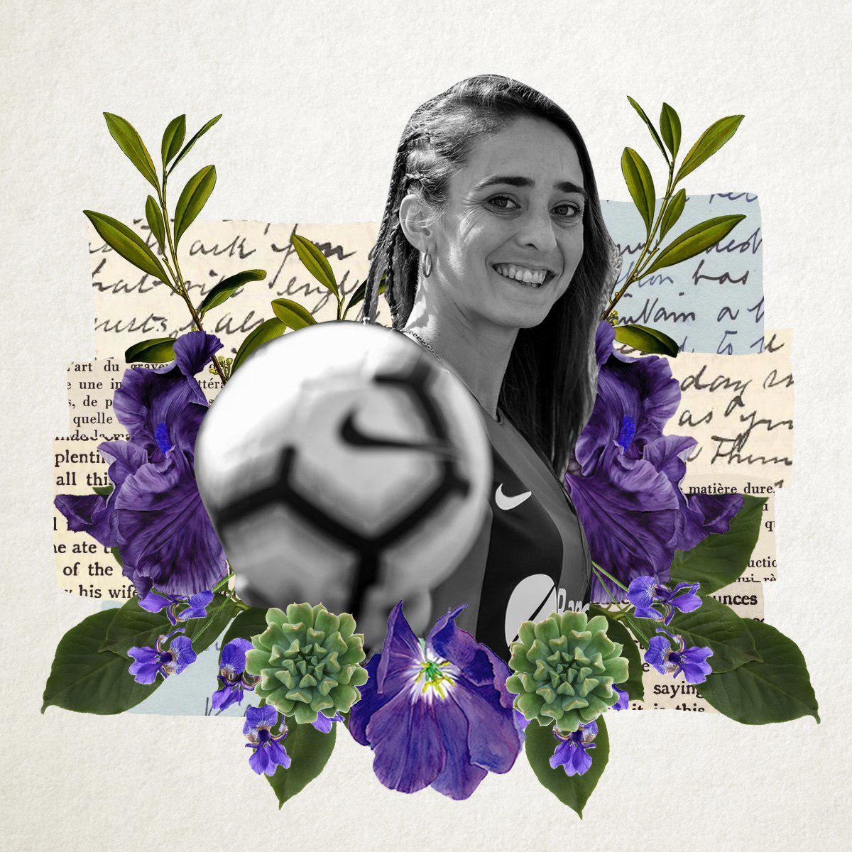Collage con fotografía de Macarena