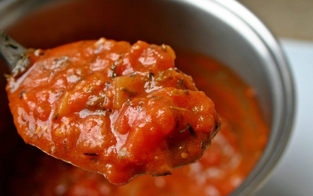 Salsa de tomates hecha en casa