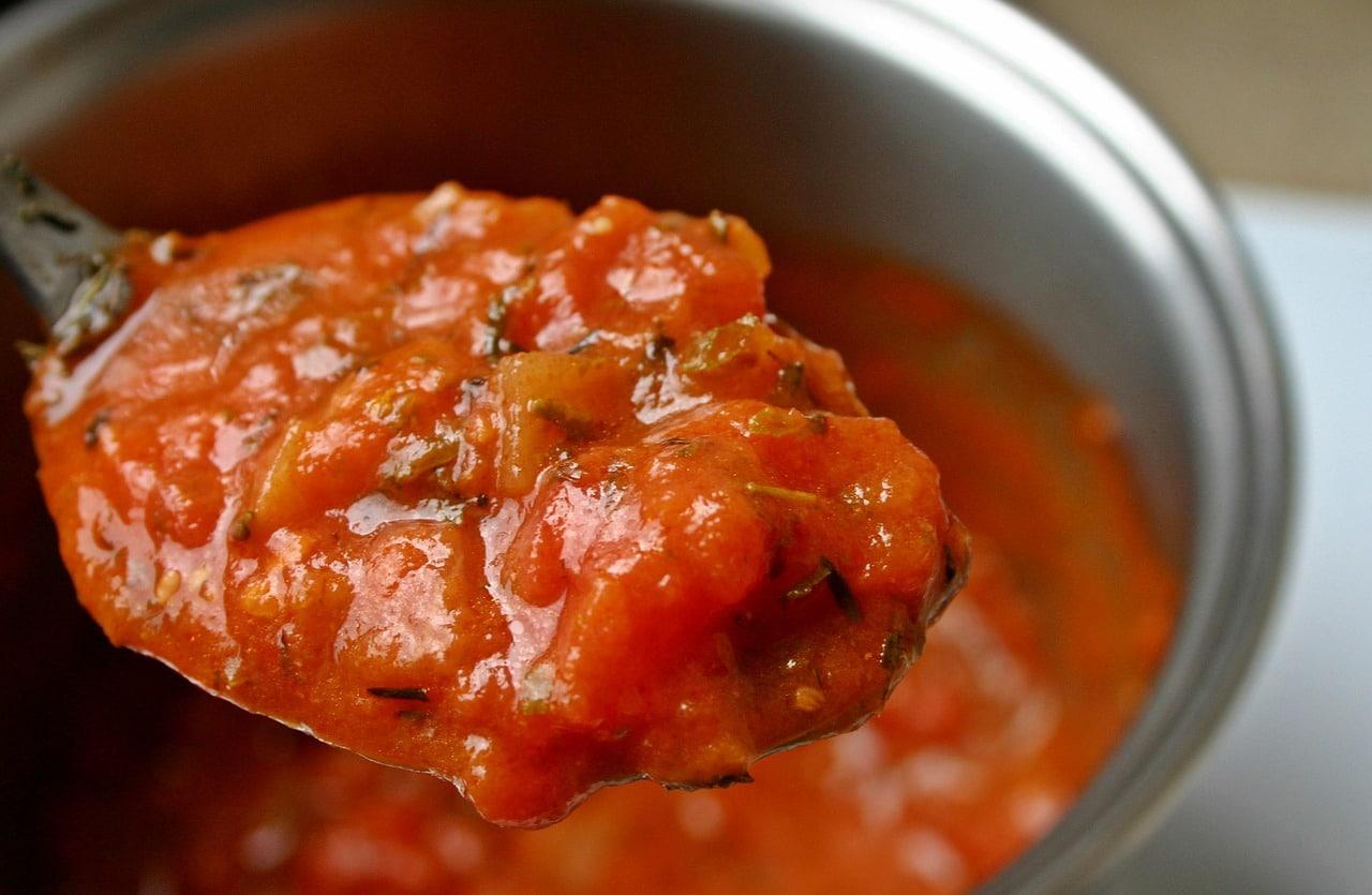 Salsa de tomate hecha en casa