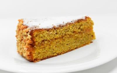 Torta de zanahorias en licuadora