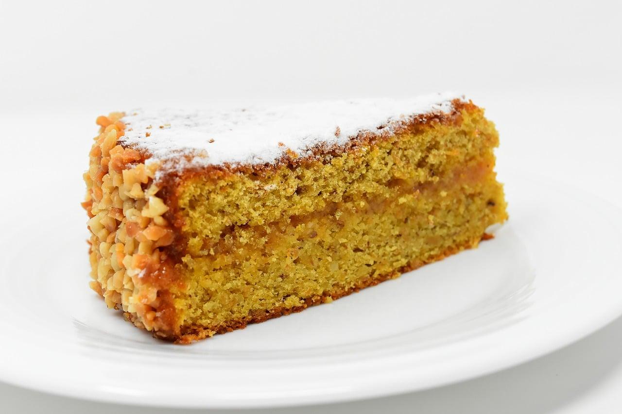 Fotografía de torta de zanahoria