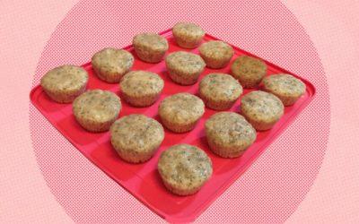 Muffins veganos de banana