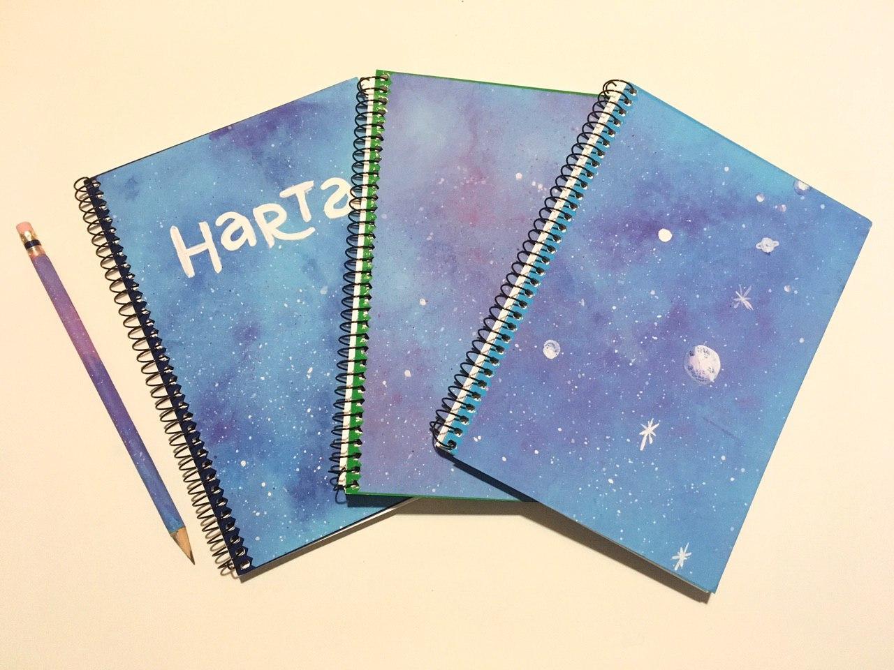 Fotografía de las cuadernolas personalizadas