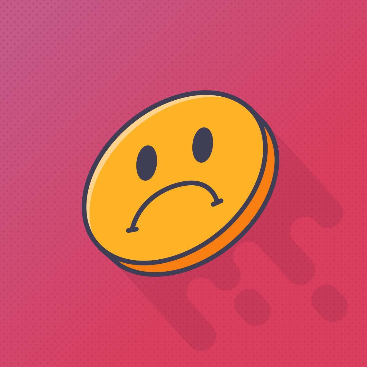 Emoji de carita triste