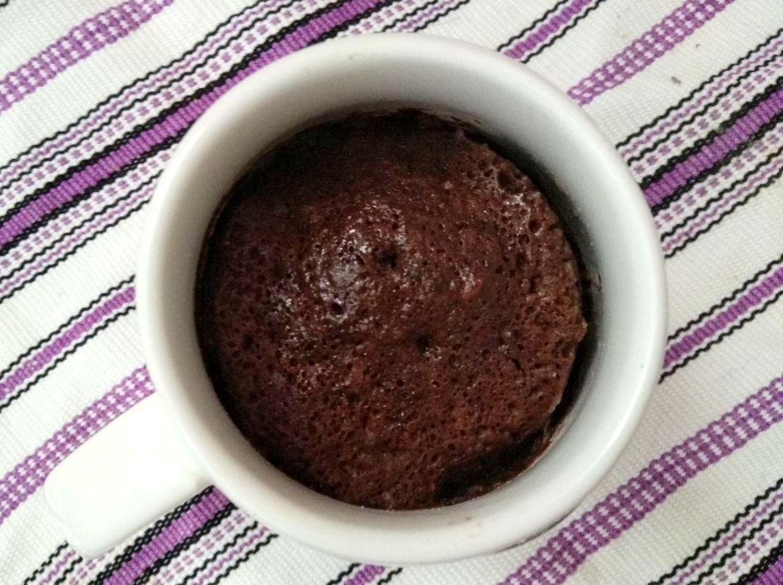 foto de una mugcake de chocolate