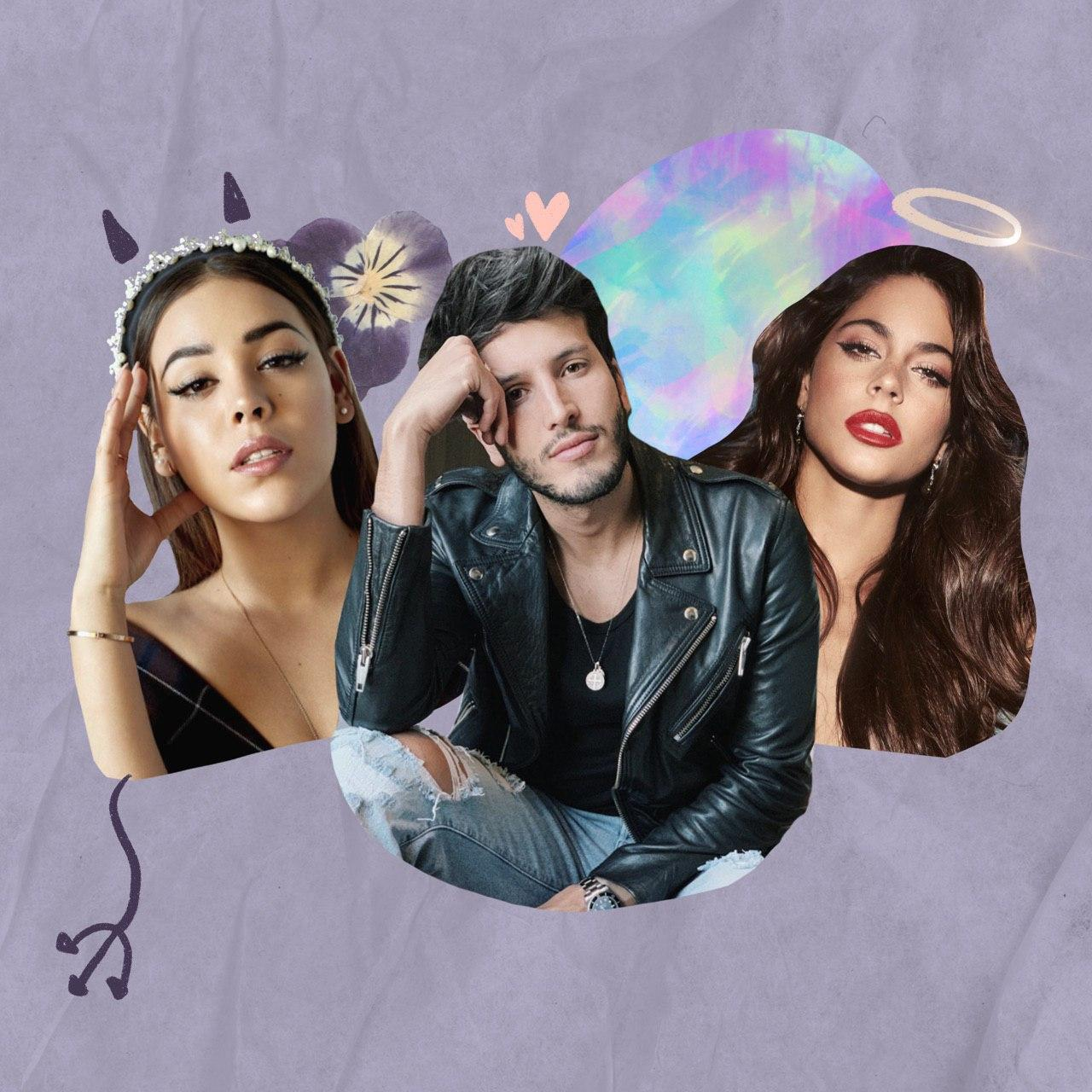 Collage digital con Tini, Yatra y Danna Paola