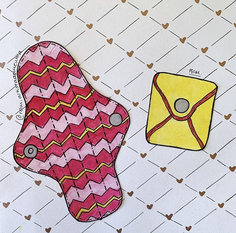 Dibujo de toallitas de tela