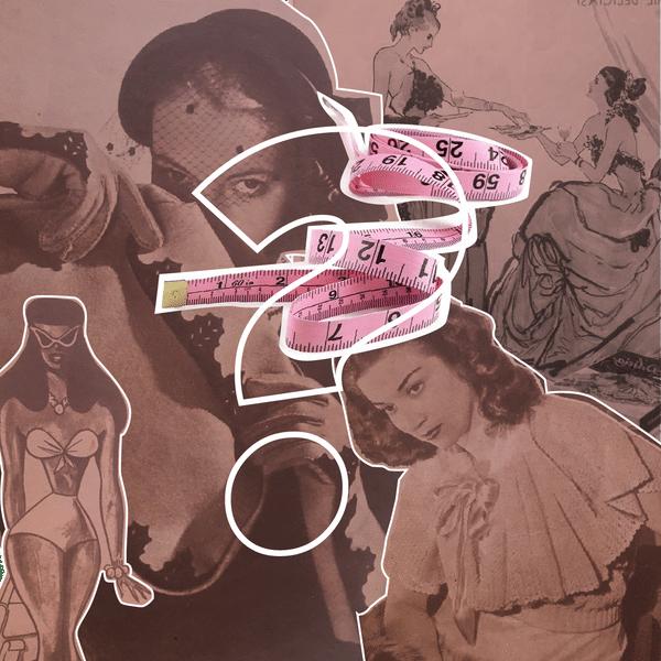 Collage con estereotipos de cuerpos delgados