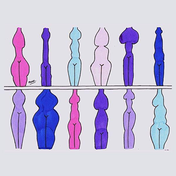 Siluetas de cuerpos diversos
